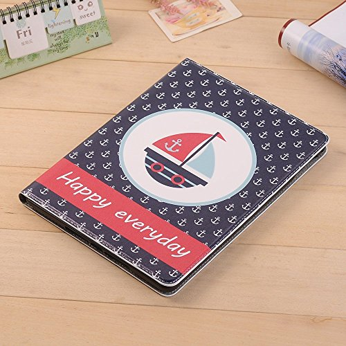 elecfan iPad Pro 12.9 Case, PU leather Smart Stand Luxury Folio Case, Cute Cartoon Slim Flip Case Cover with Card Slots Smart Screen Protective Case for iPad Pro 12.9 A05
