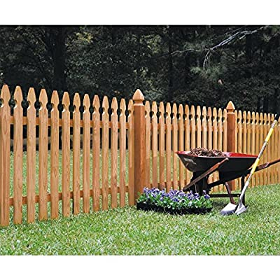 4 in. x 4 in. x 5 ft. Western Red Cedar French Gothic Fence Post (2-Pack)