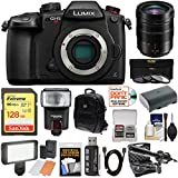 Panasonic Lumix DC-GH5S Wi-Fi C4K Digital Camera Body with 12-60mm f/2.8-4 Lens + 128GB Card + Battery + Backpack + Flash + LED Light + Microphone Kit