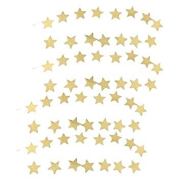 Sterne Girlande 2M Stern ketten Kunstleder Weihnachten für Kinderzimmer