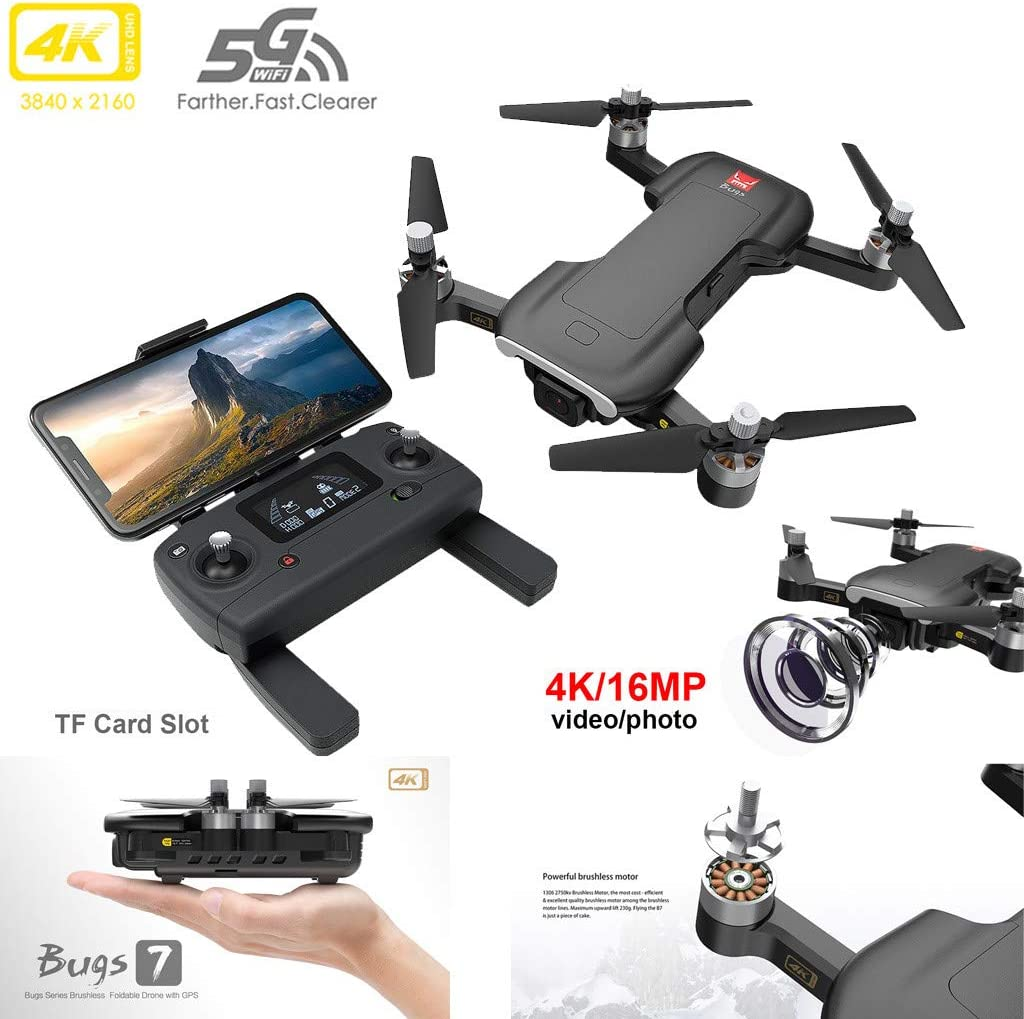 MJX Bugs 7 B7 GPS Drone With 4K Video Camera RC Quadrocopter GPS Smart Following