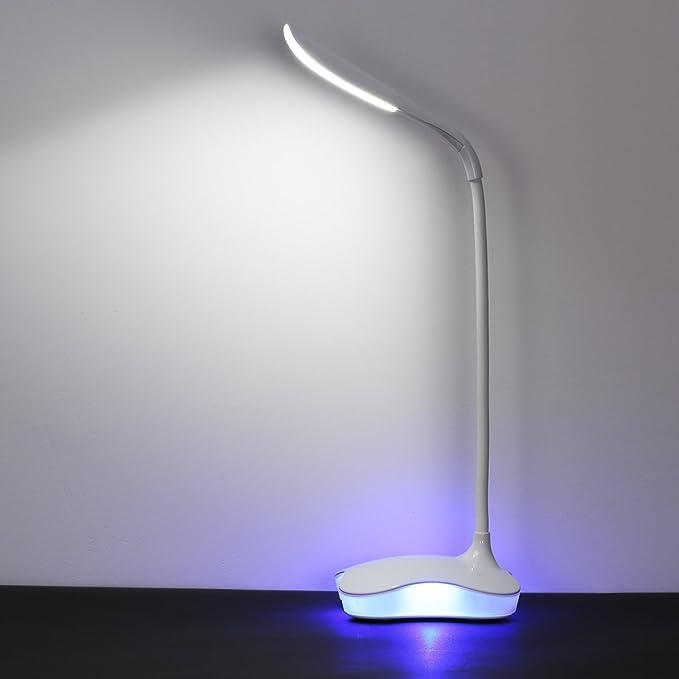 Cripston Plastic Rechargeable Night Lamp LED Light (White, Large)