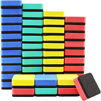 Amazon Com Dry Erase Erasers 48 Pieces Mini Magnetic Whiteboard Erasers Dry Erase Erasers Chalkboard Erasers For Home Classroom Office Office Products