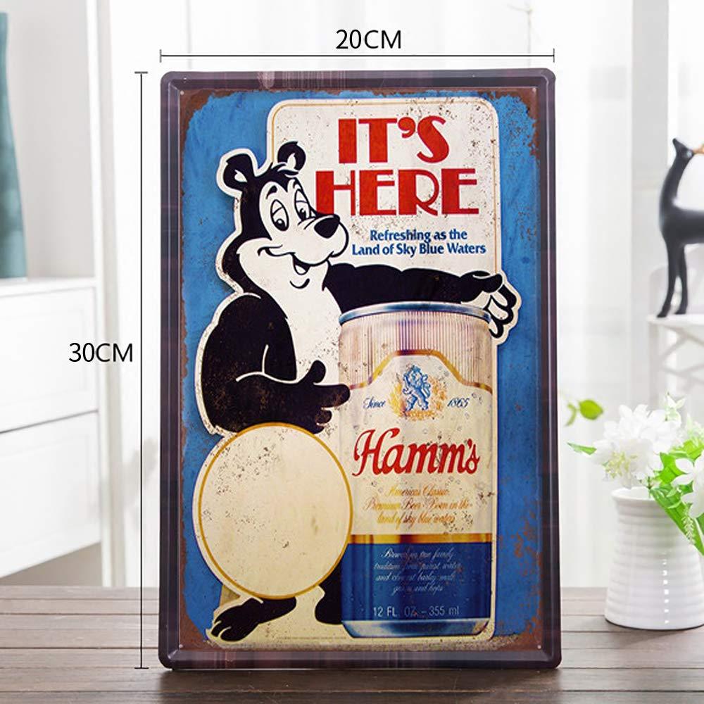 20X30 cm FlowerBeads Ice Cream Metal Tin Sign Classics Metal Tin Poster Cafe Bar Home /& Kitchen Decorative Wall Sticker