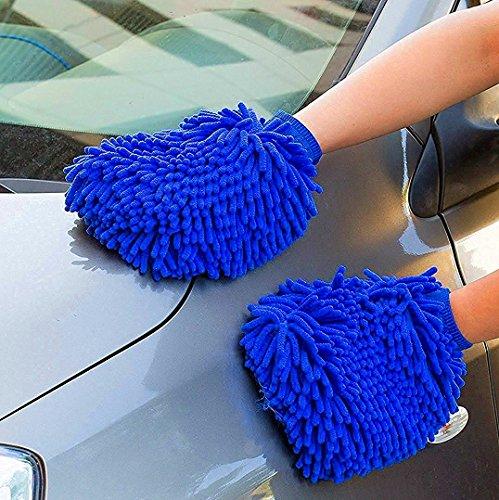 Mikrofaser Waschhandschuh Auto Handschuhe Xpassion 2 Stück Felgenhandschuhe Reinigungstuch Auto-Reinigungstuch Sowie Poliertuch für Auto Motorrad Reinigung