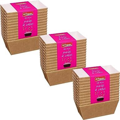 Alfapac PANCAKES los mini moldes para pan de papel de horno 12 piezas por paquete 3