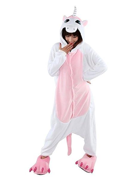 Unisex Unicornio Juguetes y Juegos Animal Ropa de dormir Cosplay Disfraces Pijamas para Adulto Niños (
