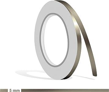 Silber Zierstreifen in 3 mm Breite und 10 Meter L/änge f/ür Auto Motorrad und Modellbau Boot