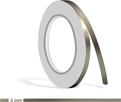Siviwonder Zierstreifen Nickel metallic Glanz in 20 mm Breite und 10 m L/änge Folie Aufkleber f/ür Auto Boot Jetski Modellbau Klebeband Dekorstreifen grau Silber