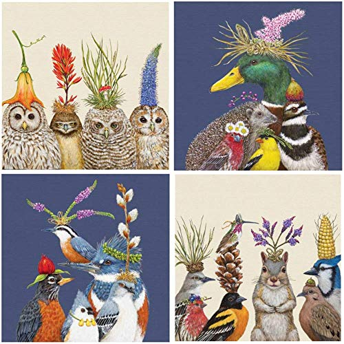 (Vicki Sawyer Cocktail Napkins Assorted Variety Pack 40 Total Napkins Party Friends Showboat Birds Big Hats Owl)