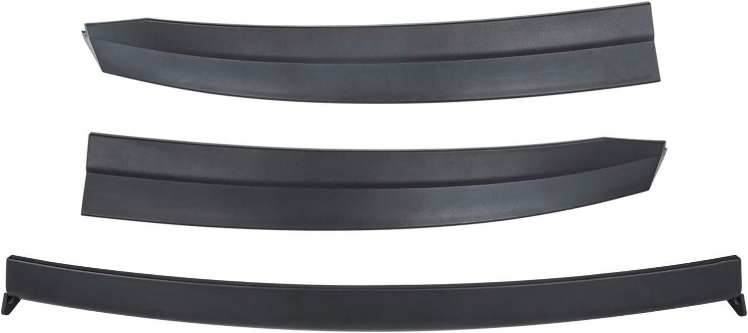 Sunluway for/Tesla Model 3 2017 2018 2019 Rear Wing Spoiler Trunk Lid Trim Kit Tail Wing(Matte Black)