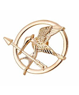 Angelia The Hunger Games Movie Mockingjay Prop Rep Pin (Mockingjay Golden)