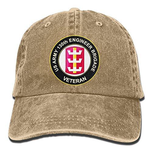 HANWILD US Army 130th Engineer Brigade Veteran - Adult Adjustable Retro Baseball Cap Dad Hat
