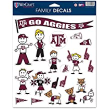 "NCAA Texas A&M University 37823013 Family Decal Sheet, 8.5"" x 11"""