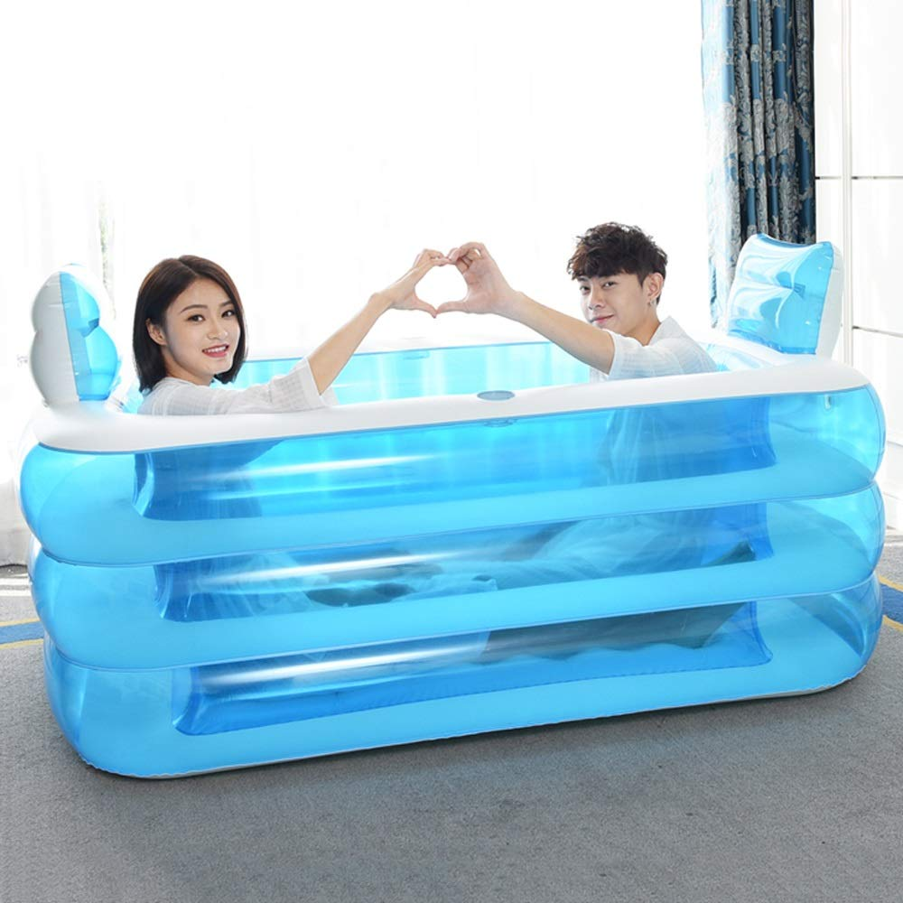 La Baignoire Est Plie Bain Gonflable Baignoire Adulte Epaissie Baignoire Bain Baril En Plastique Baignoires Cuisines Et Salles De Bain