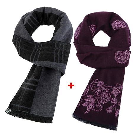 moda un'altra possibilità vendita di liquidazione Di mezza età e vecchia coppia sciarpa di velluto di seta ...