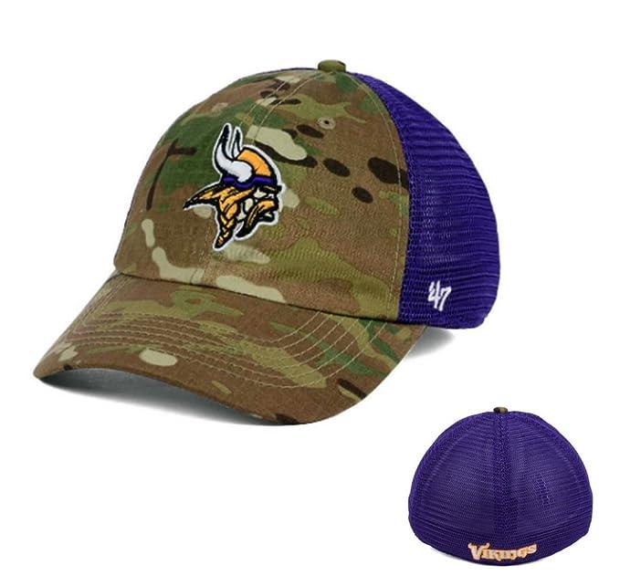 47 NFL Brand Minnesota Vikings Football Relaxed Camo Mens Hat Cap ... d68e968262d