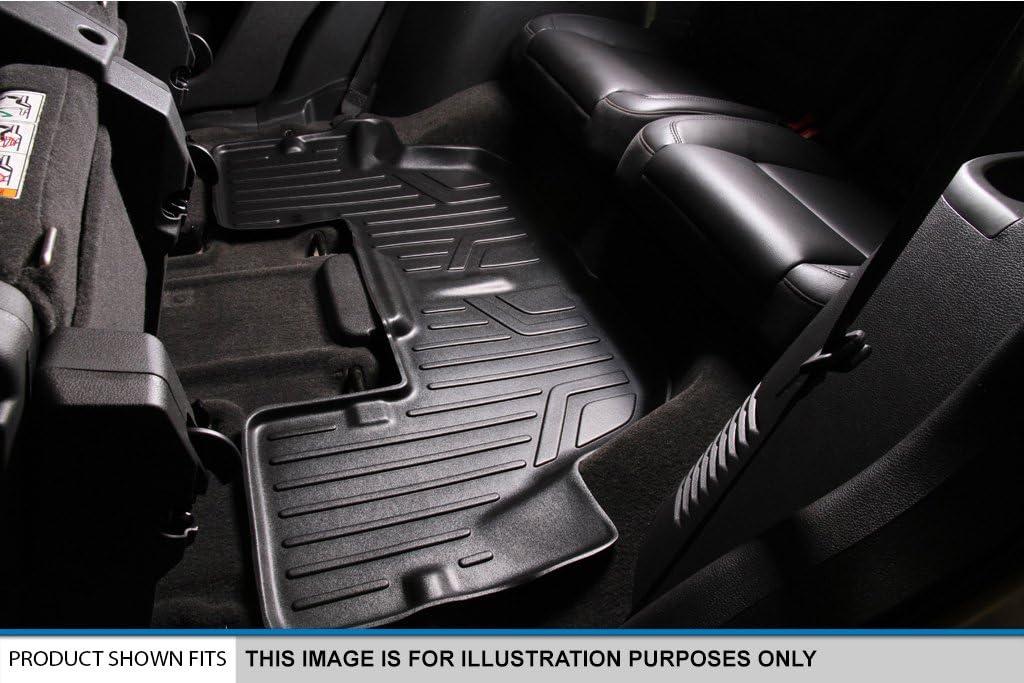 3 Row Set MAXLINER A0114//B0114//C0114 Floor Mats for Hyundai Santa Fe 2013-2017 Black