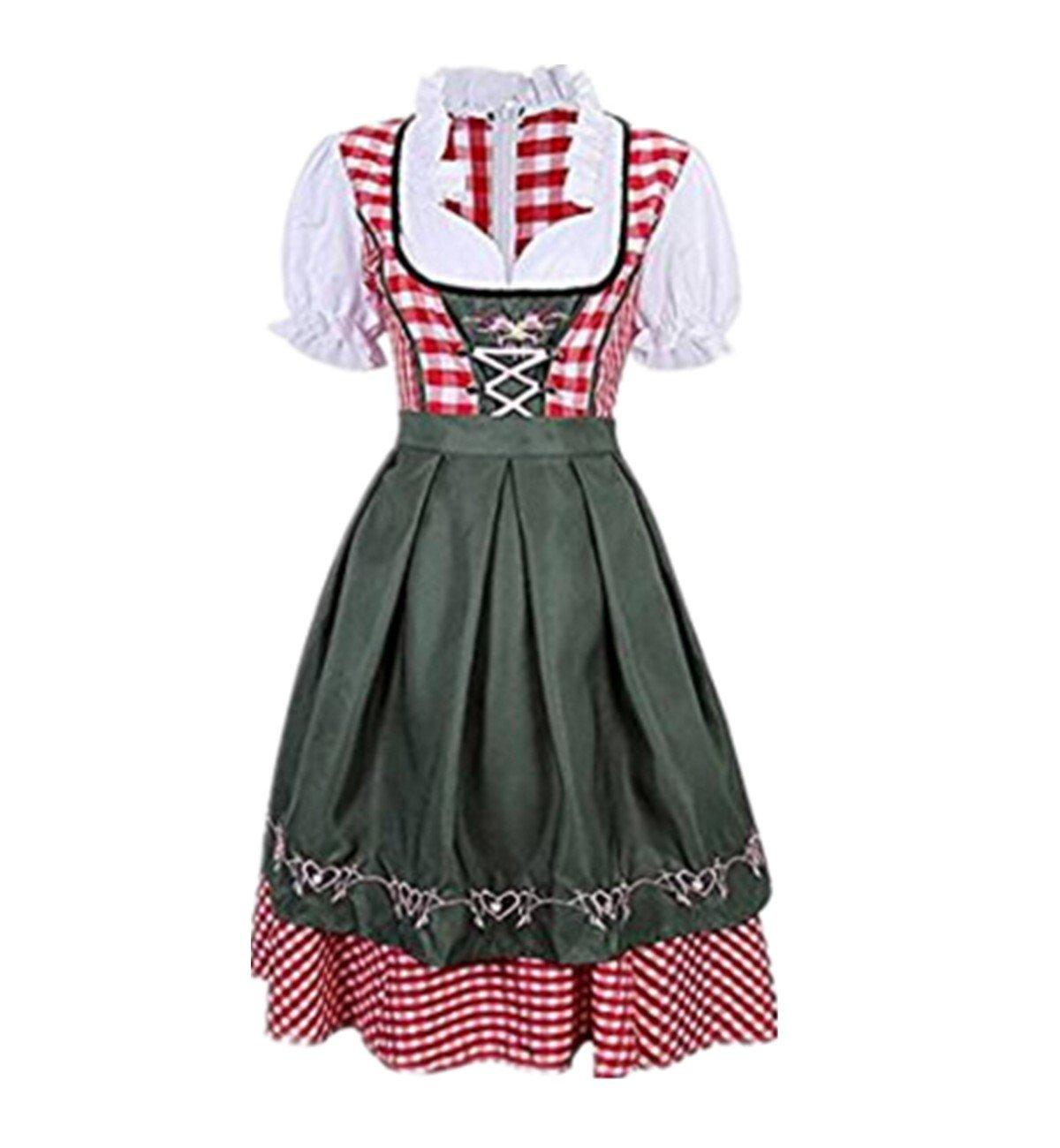 Prettycos Disfraz de Bavara Tirolesa Mujer Vestido de Oktoberfest ...