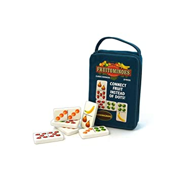 FRUITOMINOES DOMINOES WITH FRUIT NEW TRAVEL GAME FOR FAMILY by Winning Move