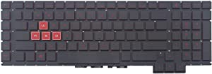 Original New for HP Omen 17-an 17-an00 Series US Backlit Gaming Laptop Keyboard Red Font