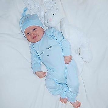 Blau, 3M//70CM Babykleidung,Honestyi Herbst Winter neugeborenen Baby M/ädchen/&Junge Augen Gesicht drucken Spielanzug Overall hat 2St Outfit Set