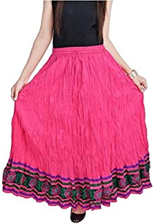Indian Handicrfats Export Women Rajasthani Pink Cotton Skirt (Magenta)(SMSKT508) FKSAR-023082SKIRT