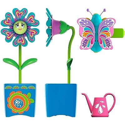 Silverlit 88443-Magic Blooms y Bug Interactivo Flor Amber con regadera mágico