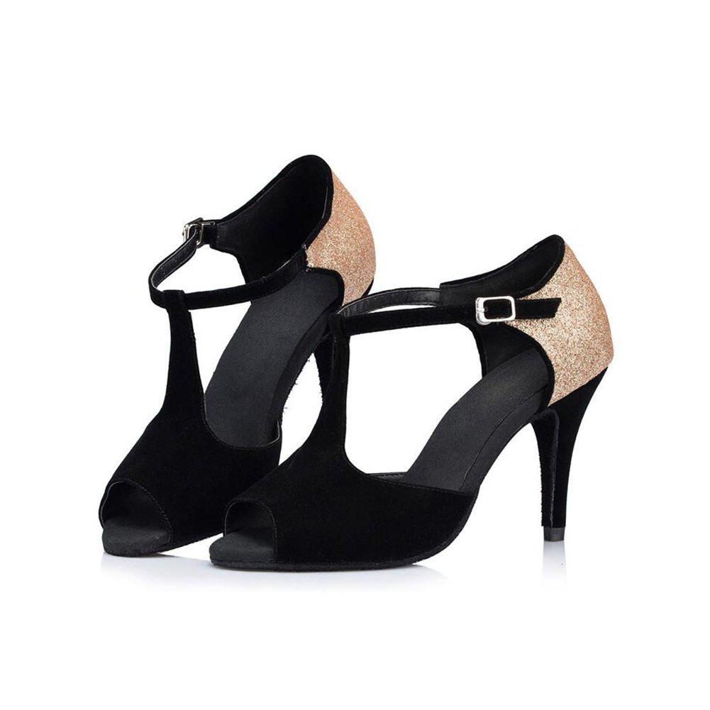 XUE Damen Damen Damen Latin Schuhe Ballsaal Schuhe Funkelnde Glitter Sandale Ferse Tanzschuhe Party & Abend (Farbe   EIN, Größe   42) B07D9X4FBT Tanzschuhe Modebewegung aeefc3