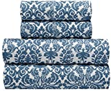 waverly sheets - Waverly Traditions Georgette Blue Damask 4-Pc. Bed Sheet Set, Full