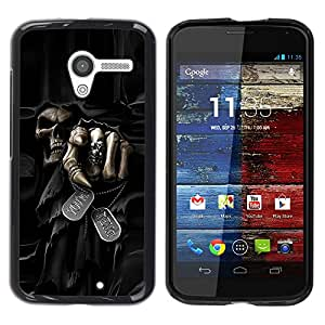 Design for Girls Plastic Cover Case FOR Motorola Moto X 1 1st GEN I Death Grim Reaper Skull Evil OBBA