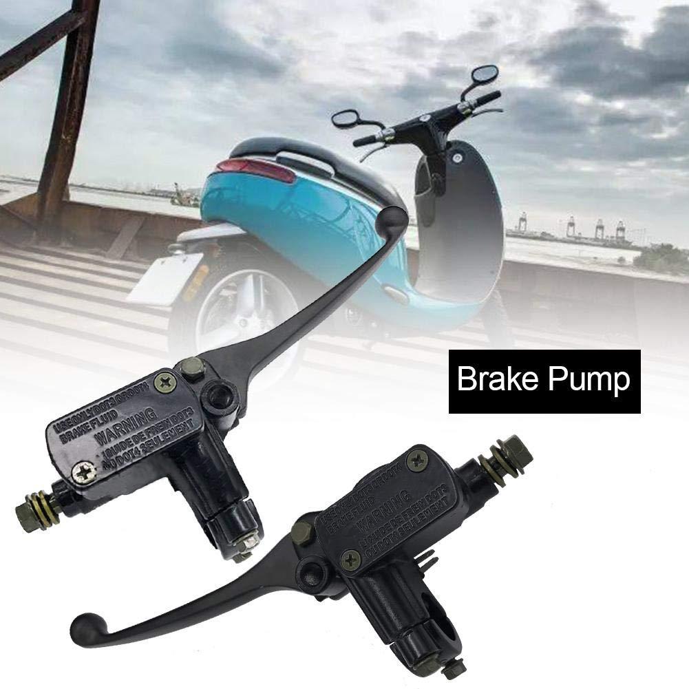 Basisago Bremse Pumpe Hauptbremszylinder HebelPumpe Mit 8mm R/ückspiegel Loch Langlebig Vorne Und Hinten Disc Hydraulische Bremspumpe F/ür Elektrische Motorrad Fahrrad