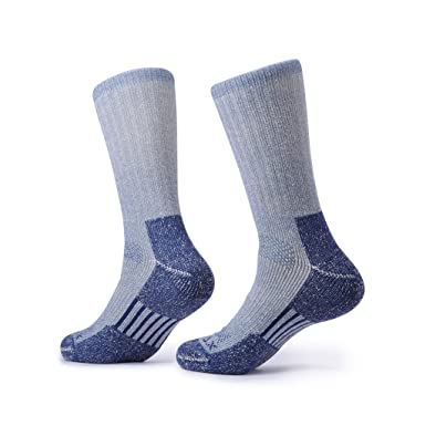 SOLAX Mens Merino Wool Crew Socks Hombre Hiking Boot Sock Sport Calcetines Pack 2 Pairs (