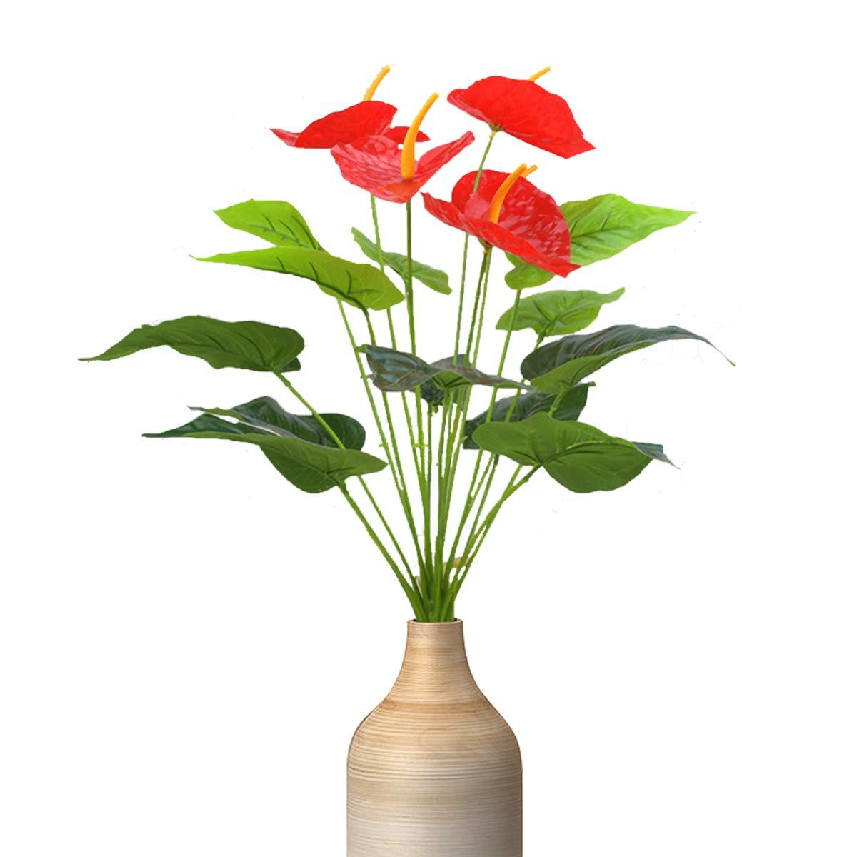 造花 造花 プラスチックフラワーブーケ 人工アントリウム ホームガーデンパーティー ウェディング オフィス装飾 B07PLD14ML