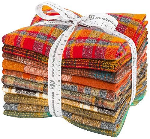 (Mammoth Flannel Yellow 10 Fat Quarters Robert Kaufman Fabrics FQ-1453-10)
