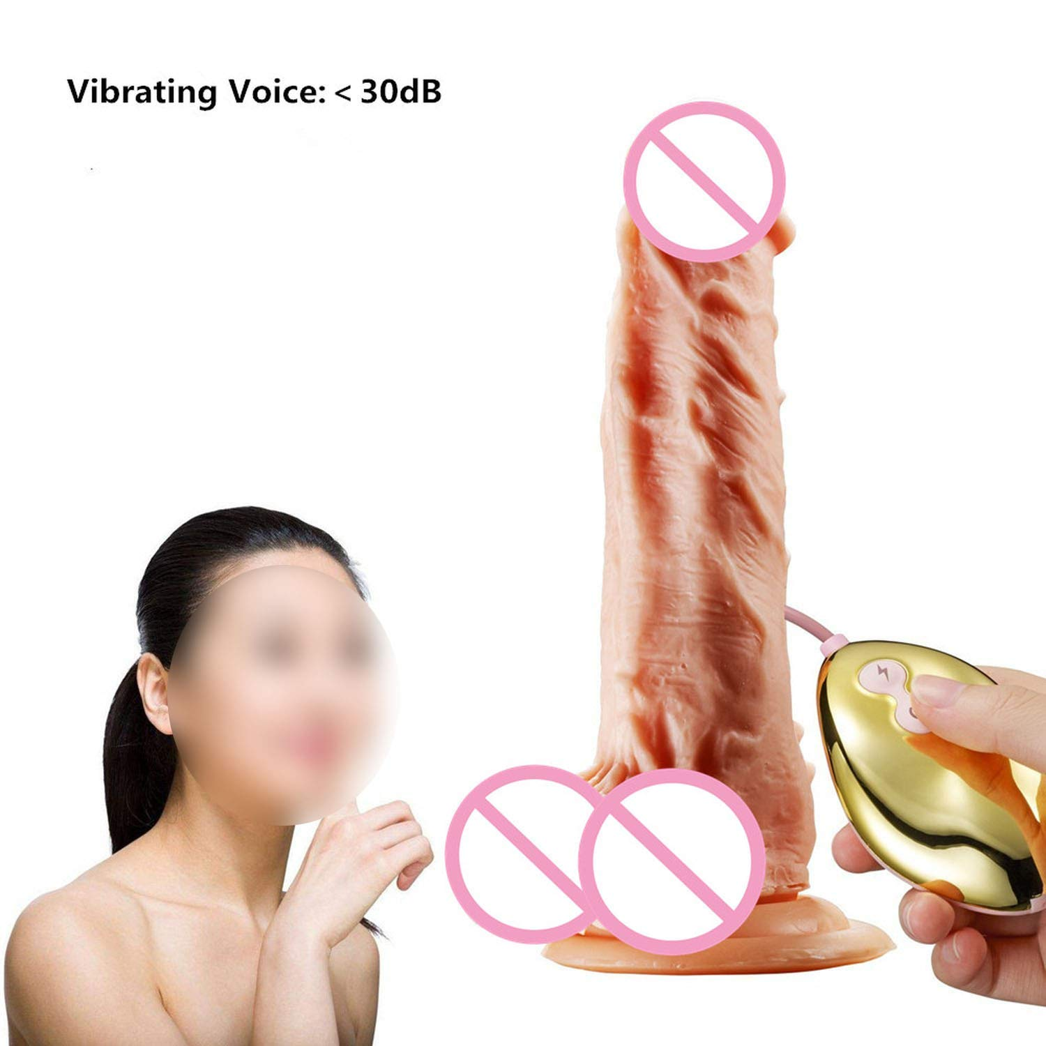 SA Tshirt Heating Vibrator Big P-Enis Rotating Anal R-ealistic Suction Cup for Women,Heating,185mmx38mm TDT by Splendid Artists (Image #5)