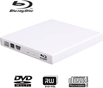External Blu-ray DVD CD Drive, USB Portable DVD Burner,BD-ROM,DVD/CD-RW/ROM Writer/Player,Support XP/Win/Linux System Related Desktop, Notebook,PC