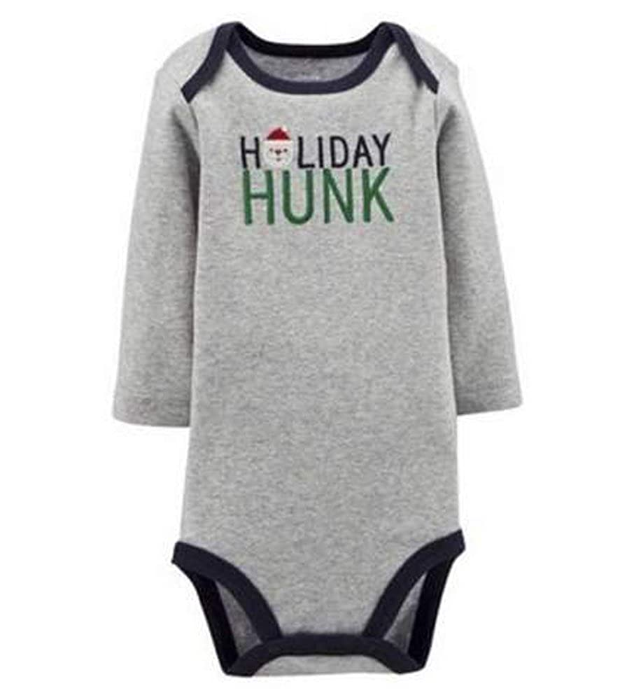 Just One You Carter's Christmas Holiday Grey Bodysuit