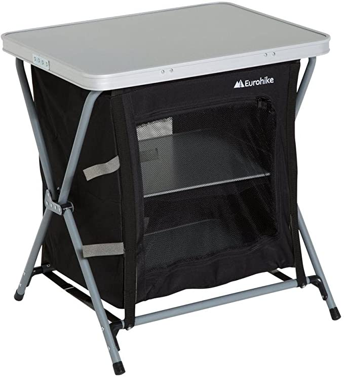 Eurohike 3 Estante Muebles de armarios Plegables Camping Storage Negro