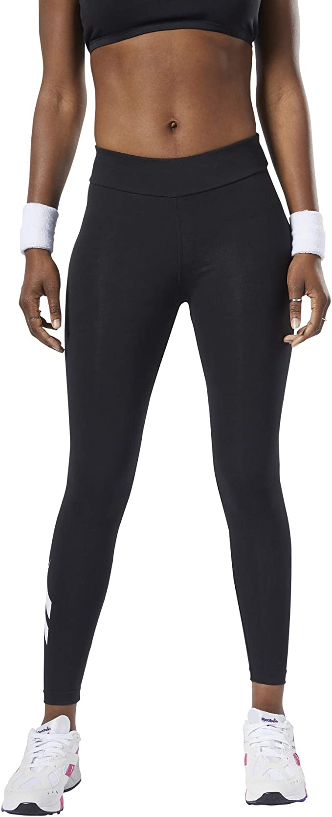 Reebok Cl V Logo Vector Leggings Women S Leggings Black Amazon De Sport Freizeit