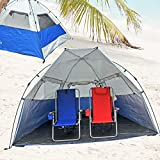Deluxe Instant PopUp Beach Tent / Shelter / Cabana UPF 100+ with Side Wall Review