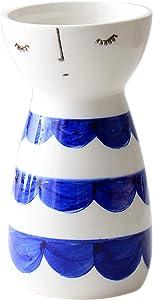 Senliart White Ceramic Vase, Small Flower Vases for Home Décor, 5.9 X 3.2 (Lace)