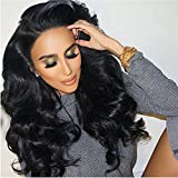 Eayon Hair 150% Density 360 Lace Frontal Wigs-Body Wave Full Frontal Lace Human Hair Wigs for Black Women Natural Hairline with Baby Hair Natural Color 20inch