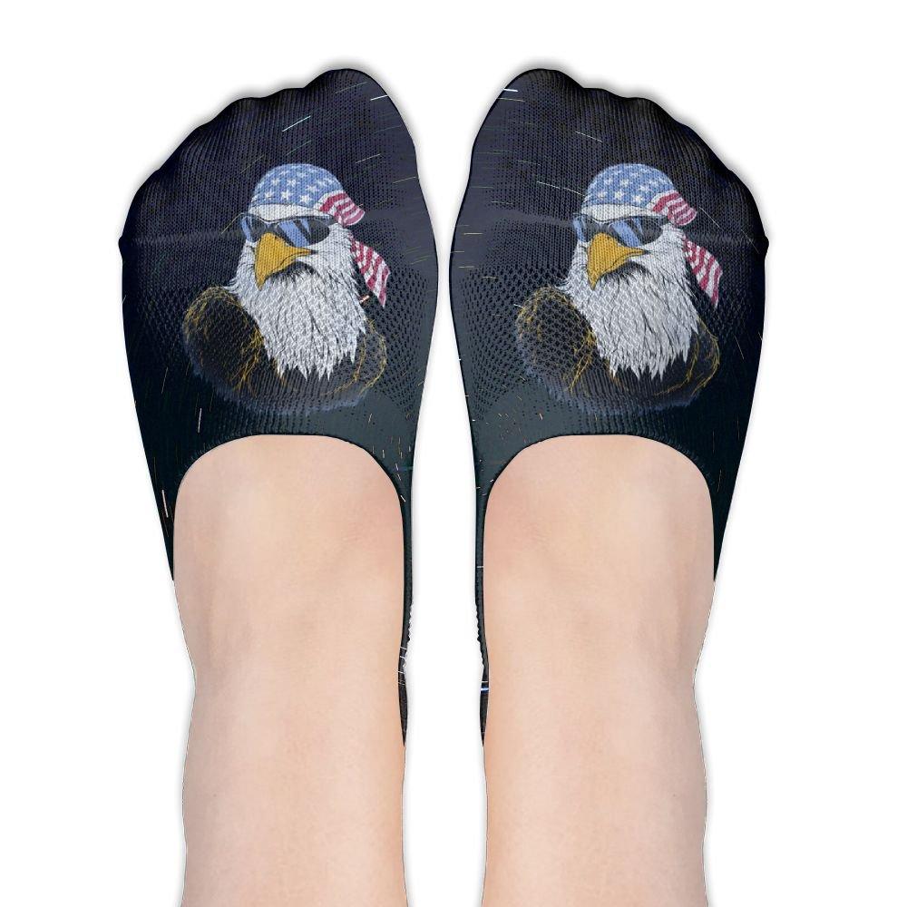 USA Mullet Eagle Women's Thin Casual No Show Socks Non Slip Flat Boat Line