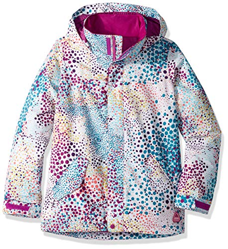 (Burton Girls' Elodie Jacket, Stout White Dots,)