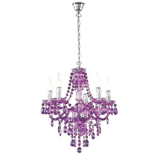 326 opinioni per lampadario a gocce barocco in plexiglass viola