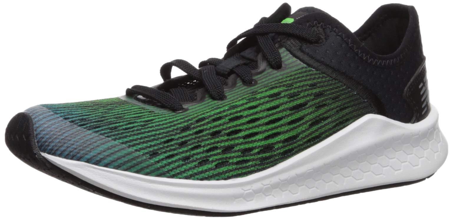 New Balance Boys' Fast V1 Running Shoe, DEEP Ozone Blue/RGB Green/Black, 5.5 M US Big Kid