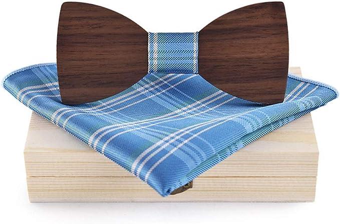 MJZHJD Pajarita de madera for hombres, mujeres, camisa, corbata ...