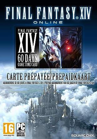 FINAL FANTASY XIV - 60 Days Game Time Card Card   Código ...