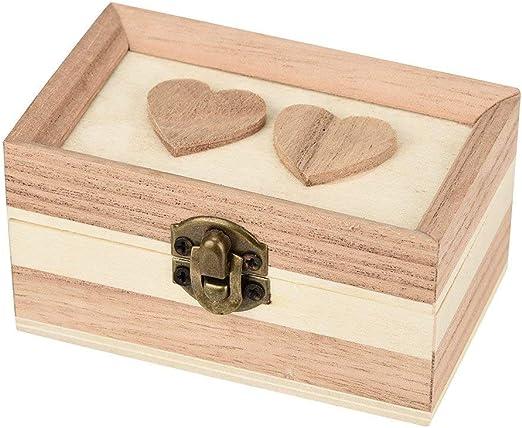 JoyRolly Caja de Almacenamiento de Joyas para Mujer-Espejo de Amor ...